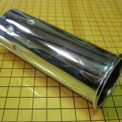 NEW 45mm (ID) x 130mm Rolled Exhaust Tip for Mercedes-Benz