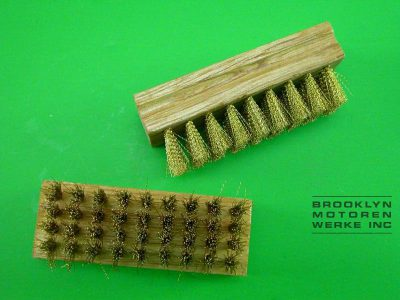Wooden Handled Chrome Brush