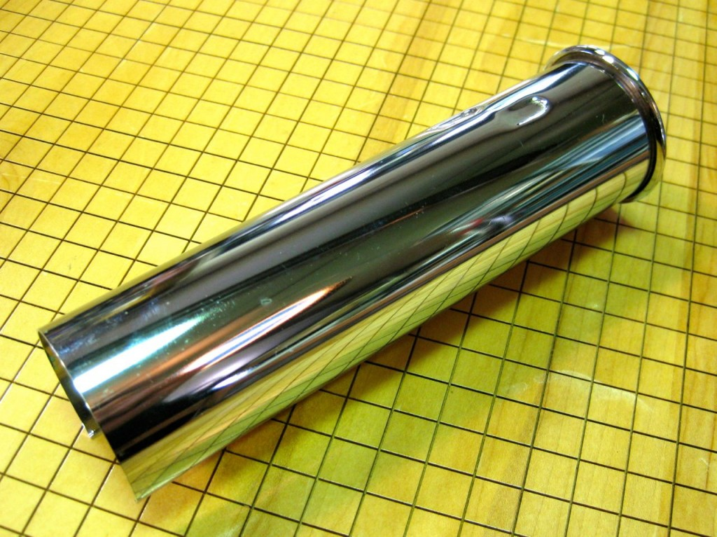 """NEW 45mm (ID) x 175mm Chrome Rolled Exhaust Tip for W113 """"Pagoda"""" SL"""