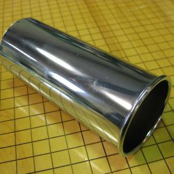 NEW 52mm (ID) x 130mm Rolled Exhaust Tip for Mercedes-Benz