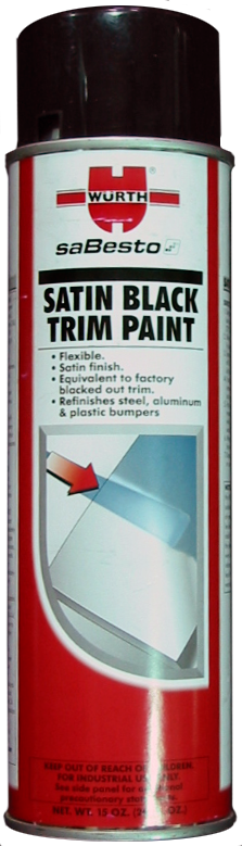 Würth SaBesto Satin Black Trim Paint